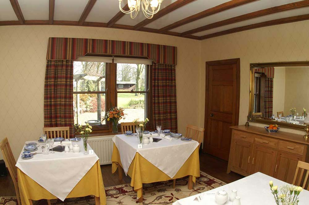 Dining room at West Acre House