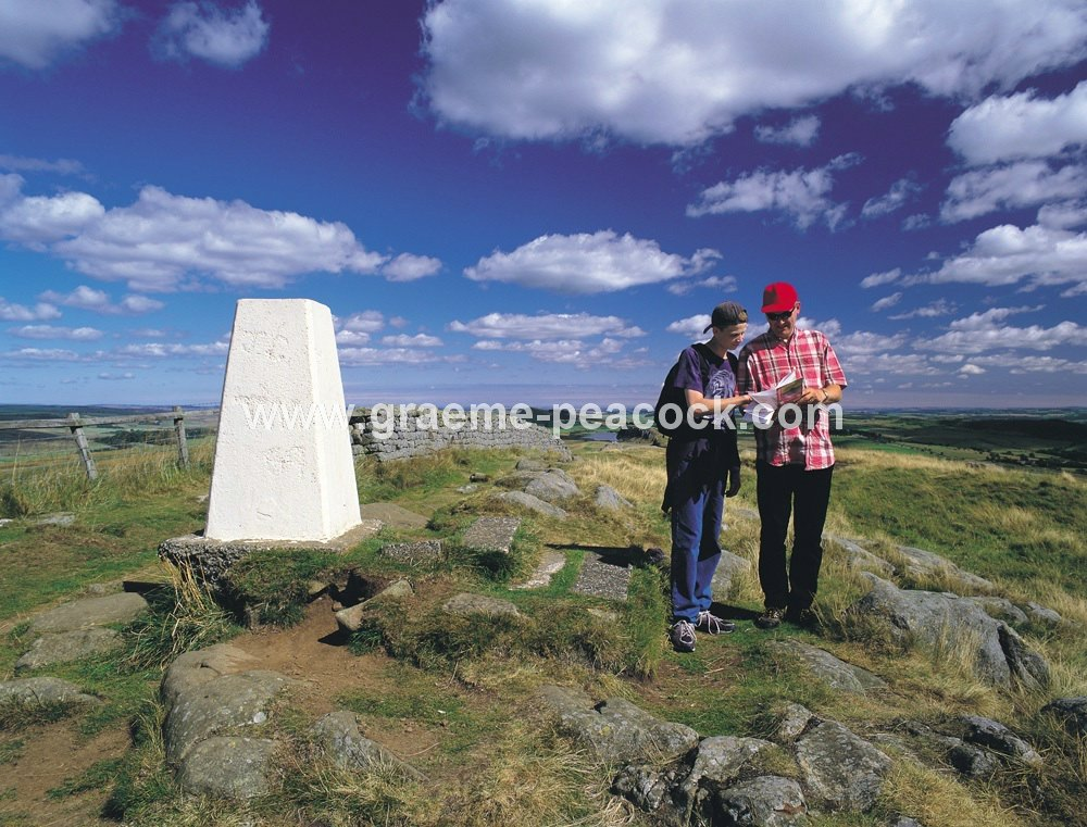 Walkers by Hadrian's Wall