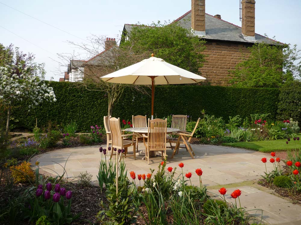 The patio at West Acre House