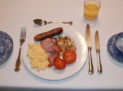 Enjoy a traditional English breakfast