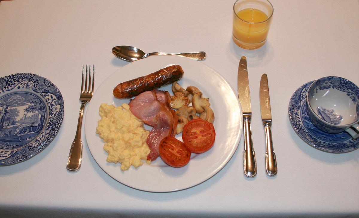 Enjoy a traditional English breakfast