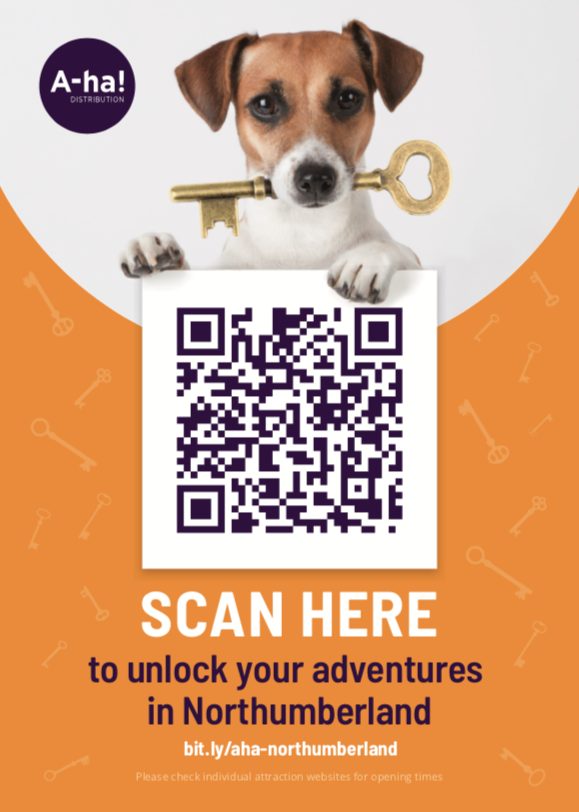 Click & SCAN to unlock your adventures in Northumberland